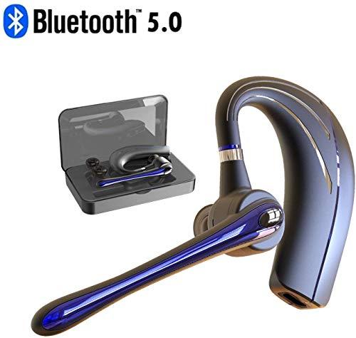 Walless Bluetooth Headset,Wrieless Ohrhörer Bluetooth Kopfhörer V5.0 Freisprechen mit Mikrofon für Business/Büro/Fahren (Blau)