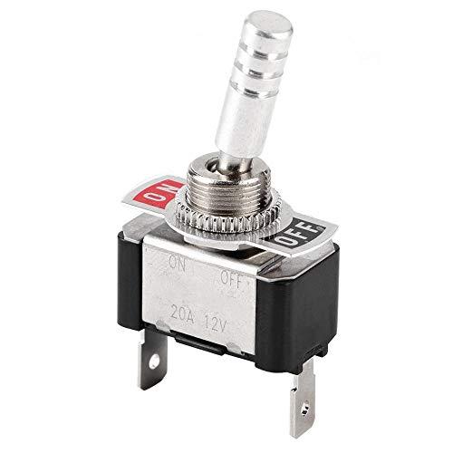 Interruptor basculante basculante, Interruptor basculante de metal para autos Jtron Racing Interruptor basculante del segundo engranaje ON-OFF Universal 12V 20A