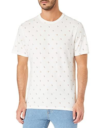Scotch & Soda Herren Bio-Baumwolle mit Print T-Shirt, Combo A 0217, L