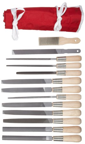 Simonds 13 Piece All Purpose Hand File Set with Handles, American Pattern,72758820