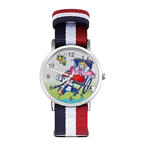 Reloj de ocio para adultos de moda ajustable con estilo espejo de cristal Shell Casual Deportes reloj de pulsera para hombres y mujeres para juegos de dibujos animados Super Mario adulto reloj de ocio
