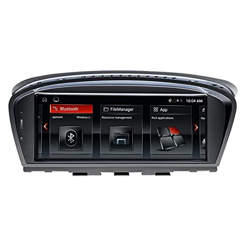 Navegador GPS para Coche Android 10 Auto Stereo para BMW 3 Series 5 Series E90 E60 2005-2008 Sistema CCC Quad Core 2GB RAM 32GB ROM con Sistema iDrive Retenido Pantalla táctil de 8.8 Pulgadas