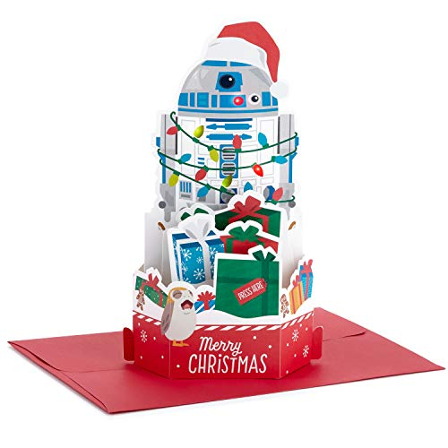 Hallmark Paper Wonder Star Wars Displayable Pop Up Christmas Card with Music (R2-D2, We Wish You a Merry Christmas) (999XSO1051)