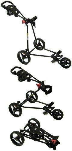 CRUISER GOLF Bullet 5000 Deluxe 3 Wheel Trolley in Black/Red
