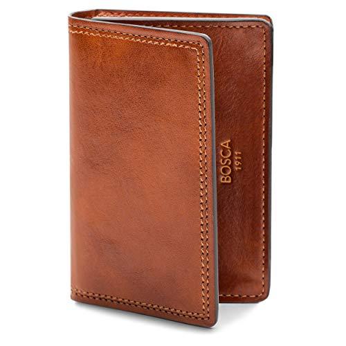 Bosca | Men's 2 Pocket Card Case Wallet w/I.D. Window in Dolce Italian Leather