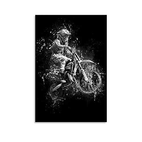 Póster de Dirt Bike Jump, cuadro decorativo, lienzo para pared, sala de estar, póster para dormitorio, 60 x 90 cm