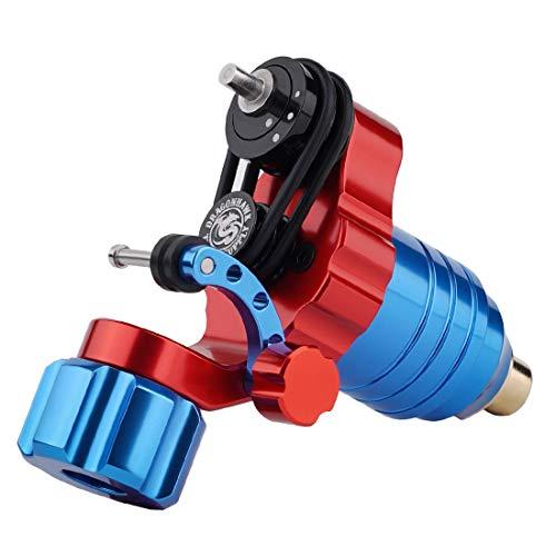 Dragonhawk Slip Rotary Tattoo Machine Gun Stroke Length Hard Soft Changeable Coreless Motor Q813 (Red-Blue)