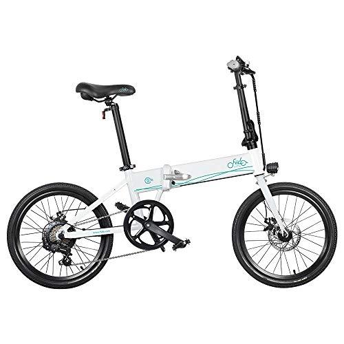 Bicicleta eléctrica Plegable para Adultos FIIDO D4S, Bicicleta de montaña para Hombre de 20  con Motor de 250 W, batería de 36V 10,4Ah (Blanco)