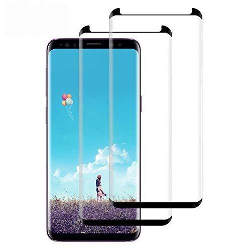WISMURHI [2 Pezzi Vetro Temperato per Samsung Galaxy S8, Pellicola Protettiva Vetro per Samsung S8 [9H Durezza] [3D Curvo Copertura Completa] [Ultra HD] [Anti-Graffi] Galaxy S8 Tempered Film