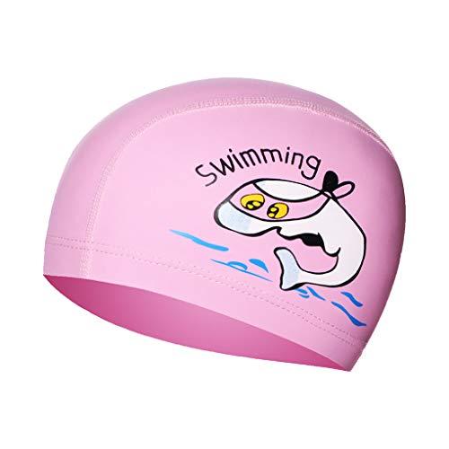 Fisstina スイムキャップ キッズ スイミングキャップ 水泳帽 UVカット 可愛い 柔らかい 高弾性 子供用 男児 女児 兼用 海遊び・水泳・旅行