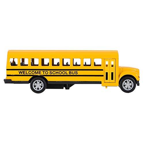Gadpiparty 1:32 Modelo de Autobús Escolar Juguete Retrovisor Coche de Juguete Vehículo Amarillo Juguete 1:24 Miniatura Coche de Autobús Fundido a Presión para Niños Niños