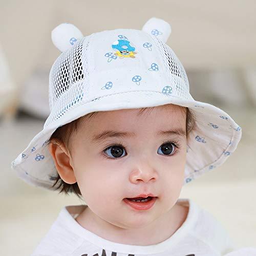 Vinteen Sombrero infantil Sombra del pescador sombrero del bebé de dibujos animados finos de verano Sección Protector solar Gorra for el sol hombres y de mujeres niño transpirable verano gorra de algo
