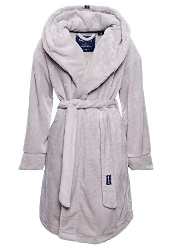 Superdry Supersoft Robe Dressing Gown Medium/Large Grey