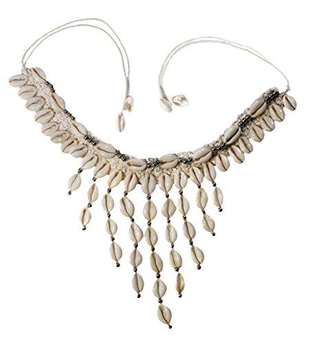 Nesha Cowrie Shell Macrame Necklace Hippie Boho