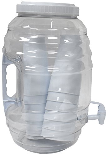 American Made American Maid 3 gallon WHITE Vitrolero Beverage Dispenser W/Tumblers Inside