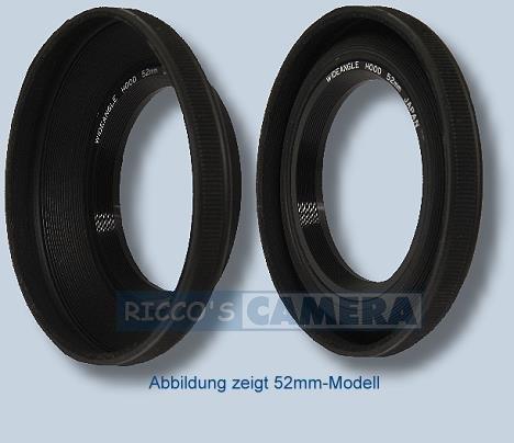 Soligor 5,5cm 55mm Weitwinkel-Gegenlichtblende 55mm Objektiv Gap–Kappen (schwarz)