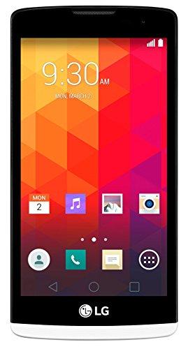 LG Leon Smartphone (11,43 cm (4,5 Zoll) IPS-Display, 1,3-GHz-Quad-Core-Prozessor, 5 Megapixel-Kamera, 8 GB interner Speicher, Android 5.0) weiß