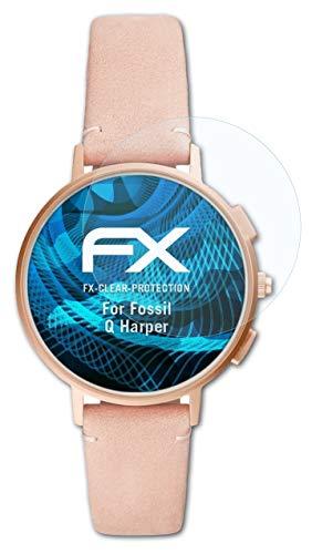 atFoliX Schutzfolie kompatibel mit Fossil Q Harper Folie, ultraklare FX Bildschirmschutzfolie (3X)