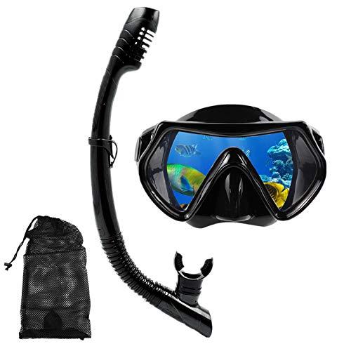 HUXIGU Set de esnórquel para adultos, máscara de esnórquel, máscara de buceo, gafas de buceo
