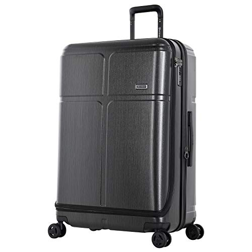 Eminent Koffer Load 79 cm 125 L Hartgepäck erweiterbar spritzgeschützte Reißverschlüsse 4 leise Doppelrollen extra großer Koffer Grafit