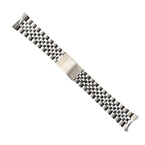 Pulsera de Acero Inoxidable de 20 mm para Reloj Jubilee Hecha para Rolex Datejust