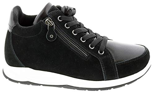 Drew Woman 10827 Black/Suede/Combo Leather 9.5 Wide (D) US
