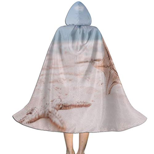 GREEDCLOUD Unisex Hooded Cloak for Halloween Christmas Masquerade Cosplay Costume Cape with Hood for Women Men Youth L