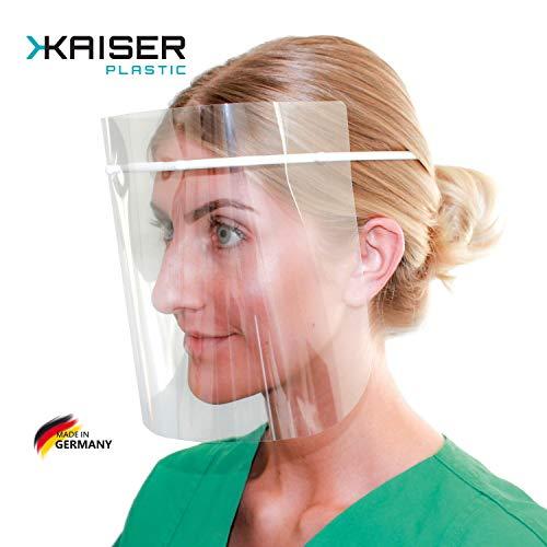 KAISER plastic® | Face Shield - Gesichtsmaske - Schutzvisier - Schutzmaske | Made in Germany | 10 Stück