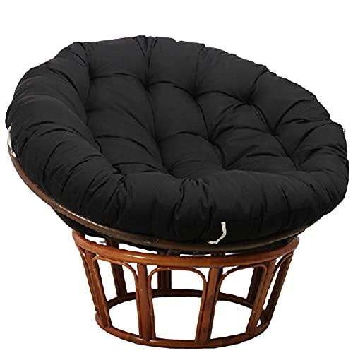 BBZZ Cojín de silla Papasan sobrerellenado, redondo, grueso, cómodo, cojín de asiento para silla Papasan para interior y exterior