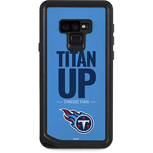 Skinit Waterproof Phone Case Compatible with Galaxy Note 9 - Officially Licensed NFL Tennessee Titans Team Motto Design