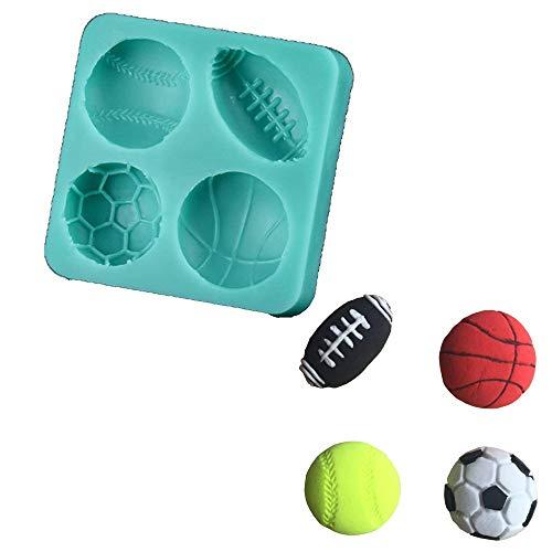 Silikonformen für Gebäck, Seife, Schokolade, Silikon, Football Basketball