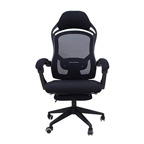 Simple Modern Office Chair Study Chair Computer Chairs Home Office Chair Office Chair Lumbar Support Desk Chairs with Wheels and Arms (Color : Black)