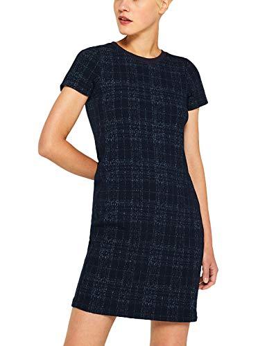 ESPRIT Stretch-Kleid mit Jacquard-Karo