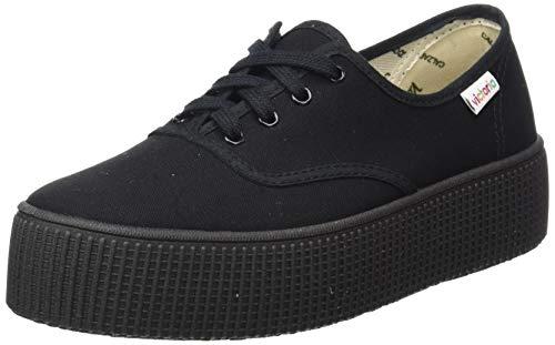 Victoria 1915 Doble Lona Piso, Zapatillas para Mujer, Negro (Negro 10), 40 EU