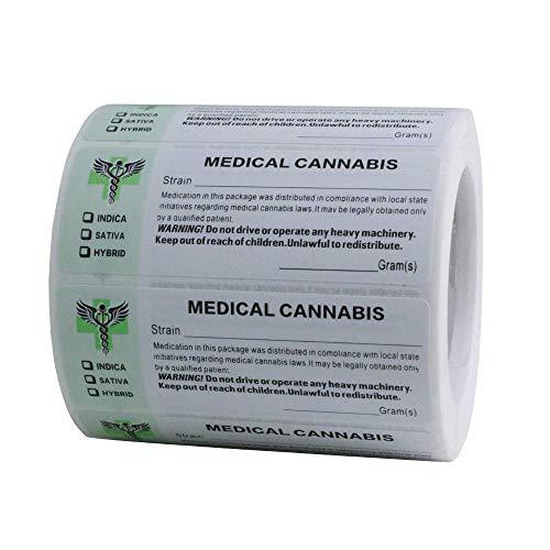 Etiquetas médicas genéricas para colas, etiquetas médicas de acuerdo con el estado