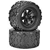 2pcs 1/18 RC Tire, High Performance RC Car Wheel and Tire RC Truck Buggy Crawler Tires RC Tire Replacement Fits for HS 18301 18302 18311 18312 1/18 RC Car