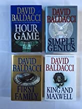 King & Maxwell Series (4 Book Set) Hour Game -- Simple Genius -- First Family -- King and Maxwell, By David Baldacci