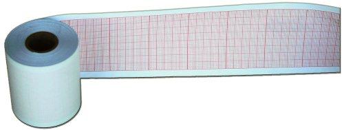 Contec ECG CORE - Papel de dibujo (16 mm x 50 mm x 20 m, 10 rollos)