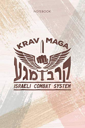 Notebook KRAV MAGA Logo Israeli Combat System IDF: Pocket, Appointment, Life, 114 Pages, To Do List, Personal, Event, 6x9 inch