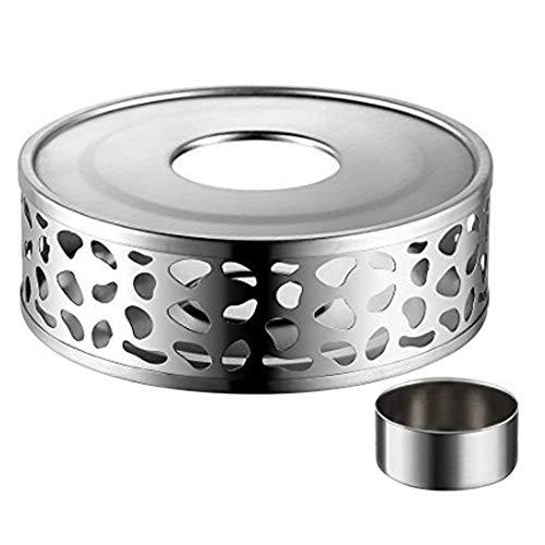 Scalda tè, Scaldino teiera in acciaio inossidabile per teiera in vetro borosilicato, teiera in ghisa, teiera in acciaio inossidabile e teiera in ceramica con candela da tè