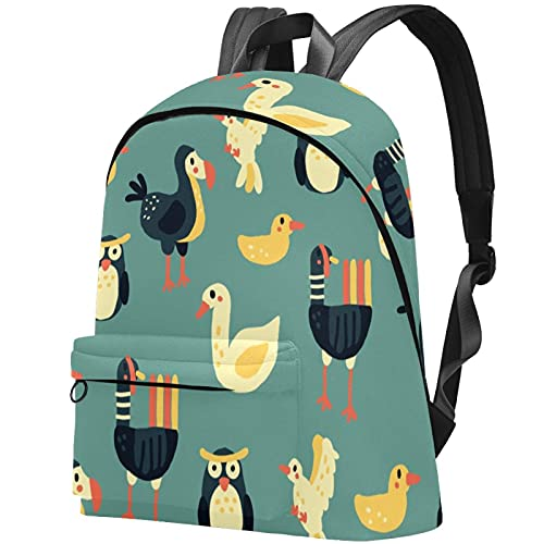 Lightweight for Adults and Unisex Laptop Daypack Animal Owl Bird Backpack Travel Casual Rucksack College Schoolbag
