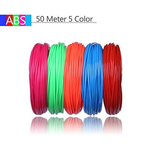 senza KF-3D, 20 Colore o 10 Colore o 5 Colore/Set 3D Penna Filamento ABS/PLA 1,75 mm Plastica Gomma Materiale di Stampa Per Stampante 3D Penna Filamento 50 metri di abs