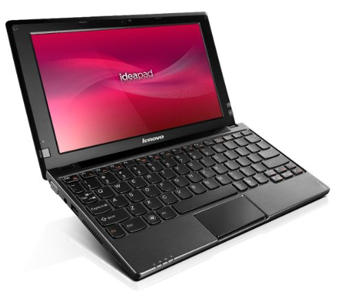 Lenovo IdeaPad S10-3 25,6 cm (10,1 Zoll) Laptop (Intel Atom N470, 1,8GHz, 1GB RAM, 250GB HDD, Intel GMA HD, Win 7 HP) schwarz