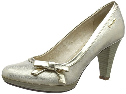 bugatti Damen 412281745950 Pumps, (Beige/Metallics 5290), 40 EU