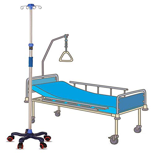 Stand Drip with 5 Wheels, Height Adjustable Stainless Steel IV Infusion, Mobile Drip Vehicles for Elderly Home Care,Hospital, Clinic and Pet Hospital