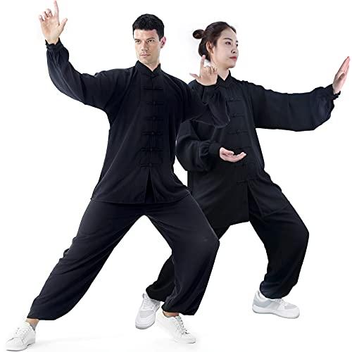 GEGEGEQ Tai Chi, Abbigliamento da Mattina per Esercizi, Kung Fu e Arti Marziali, in Seta, Donna, B, XS