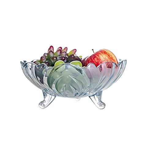 HARLIANGXY Obstteller, Obstkorb - Blauer See Kristallglas, Modern, Kreativ, für Wohnzimmer, Büro, Party, Obstschale, Dessert-Teller aus Glas, Snack-Tablett