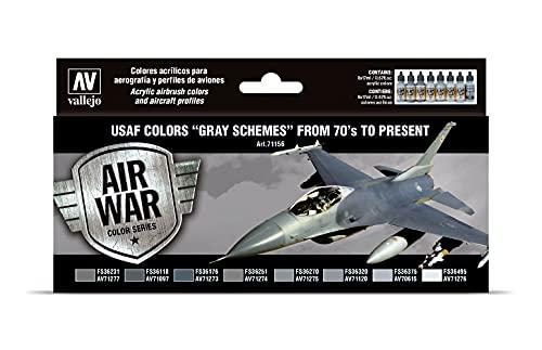 Acrylicos Vallejo Model Air - Set di Colori Acrilici per Aerografo, Grigio