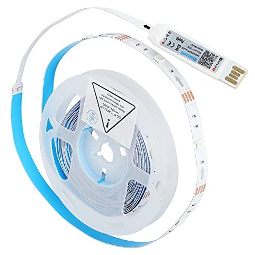 WANZSC 4M LED-Lichtleiste Bluetooth Flexible Lampe USB RGB Sound Control Musiklicht TV Hintergrunddekor, LED-Streifenleuchten Sound Control Strip Light LED