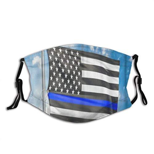 Face Mouth Scarf,Flagge Von Uns Polizei Staubschutz Mundschutz Für Unisex Motorrad,20x15cm